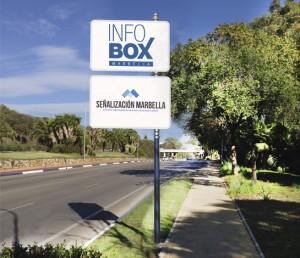 Infobus en marbella, publicidad en paradas de bus de marbella